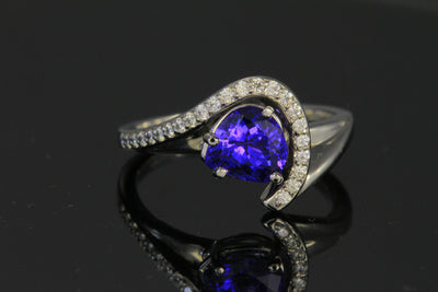 tanzanite ring 18K 1.77ct