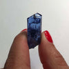 33.83ct Long Blue Tanzanite Crystal