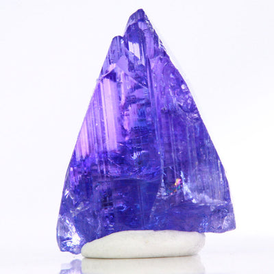Tanzanite crystal in the raw purple blue violet