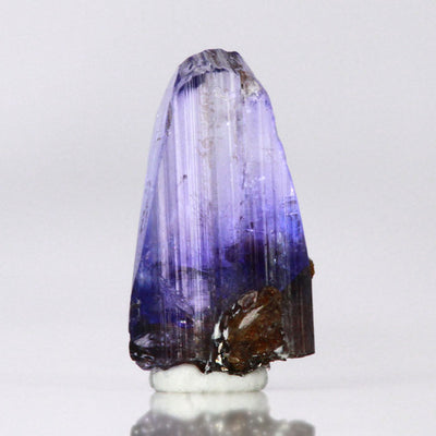 Light colored tanzanite crystal specimen