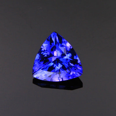 blue trilliant tanzanite gemstone