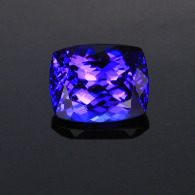 antique cushion blue violet tanzanite gemstone