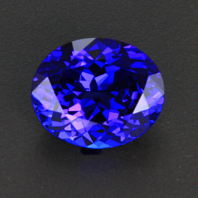 Violet Blue Oval Tanzanite Gemstone 9.71 Carats