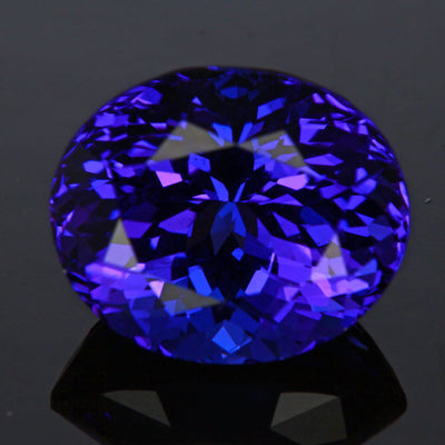 Blue Violet Oval Tanzanite Gemstone 6.69 Carats