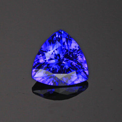 Violet Blue Trillant Tanzanite Gemstone 2.80 Carats
