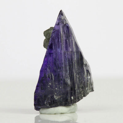 Raw Tanzanite Crystal with Calcite Mineral Specimen