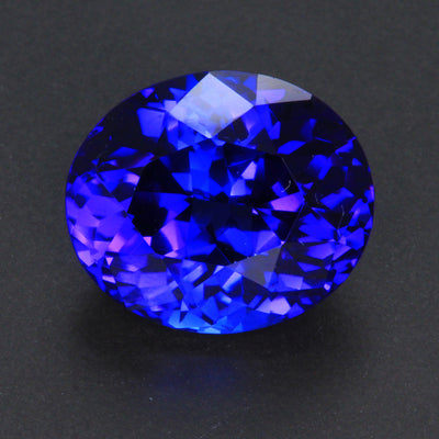 Violet Blue Oval Tanzanite Gemstone 14.80 Carats