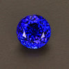 Violet Blue Round Brilliant Cut Tanzanite Gemstone 7.12 Carats