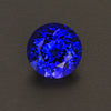 Violet Blue Round Brilliant Cut Tanzanite Gemstone 7.37 Carats