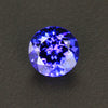 Blue Violet Round Brilliant Cut Tanzanite Gemstone 1.35 Carats