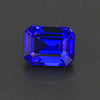 Blue Violet Emerald Cut Tanzanite Gemstone 3.68 Carats