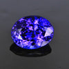 blue violet oval tanzanite gemstone
