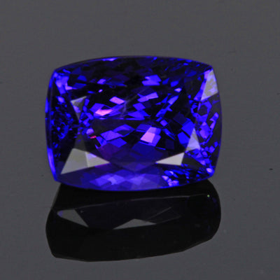 Blue Violet Antique Cushion Tanzanite Gemstone 5.62 Carats