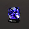 square cushion tanzanite gemstone blue violet