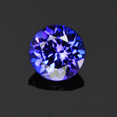 Blue Vivid Round Tanzanite Gemstone 1.07 Carats