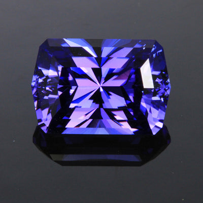 barion style emerald cut tanzanite gemstone