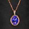 Tanzanite oval pendant 1.98 ct