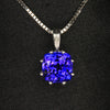 14K White Gold Tanzanite Pendant 2.86 Carats