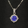tanzanite and diamond pendant