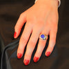 14K White Gold Cushion Tanzanite Ring with Diamonds by Christopher Michael 2.91 Carats