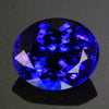 Violet Blue Exceptional Plus Oval Tanzanite Gemstone 18.09 Carats