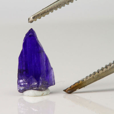 miniature raw tanzanite crystal
