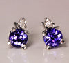 Tanzanite Earrings .65 Carat BVV Color