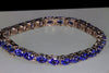 Tanzanite Tennis Bracelet in White Gold