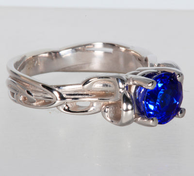 Round Brilliant Tanzanite Ring By Christopher Michael