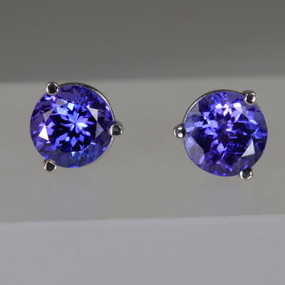 Tanzanite Stud Earrings 2.22 Carats