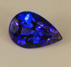 1.46 Carat Pear Shaped Tanzanite with Violet Blue Exceptional Color