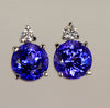 Tanzanite and Diamond Earrings  2.90 Carats