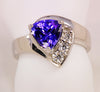 Trilliant Tanzanite1.39 Carat Ring by Christopher Michael
