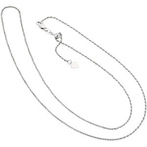 Rope Chain Adjustable up to 22 Inch