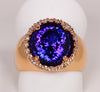 Tanzanite Rose Gold ring 6.72 Carat Designed By Christopher Michael