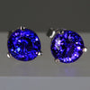 7 Millimeter Round Tanzanite Earrings