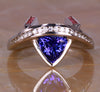 White Gold Tanzanite Ring 1.32 Carats