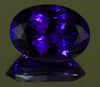 6.08 Carat Oval Tanzanite with Blue Violet Exceptional Plus Color