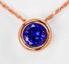 Rose Gold Tanzanite Pendant 1.81 Carat BVV Color