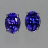 Oval Tanzanite Earrings 2.50 Carats