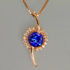 Tanzanite Pendant in Rose Gold