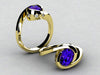 Christopher Michael Designed Ring With 8x6 MM Oval Tanzanite