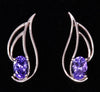 Tanzanite Earrings 1.17 Carat BVI Color