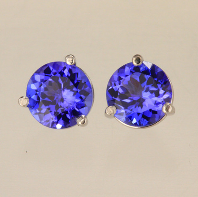 stone tan cut oval gold purple gemstone halo prong tanzanite white majesty with diamond earrings stud accents in bijoux screwbacks multi round w o