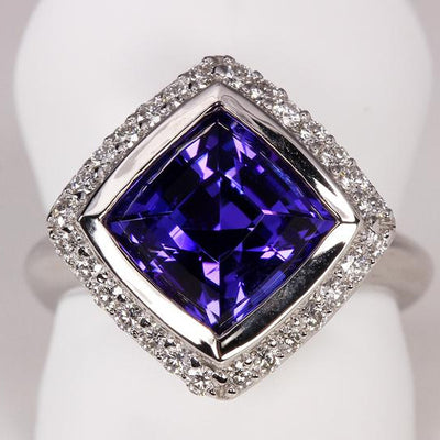 Square Tanzanite Ring