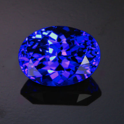 Violet Blue Oval Tanzanite Gemstone 11.58 Carats