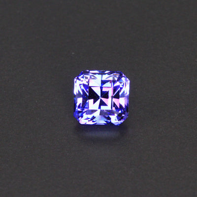 Blue Violet Stepped Square Tanzanite Gemstone 1.32 Carats