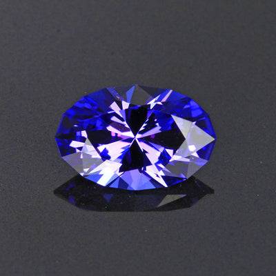Blue Violet Oval Tanzanite Gemstone  3.76 Carats