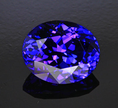 Blue Violet Oval Tanzanite Gemstone 8.22 Carats