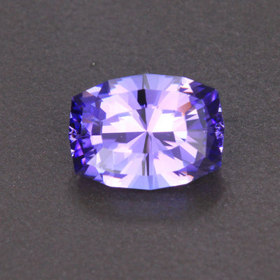 Blue Violet Antique Cushion Tanzanite Gemstone 2.44 Carats